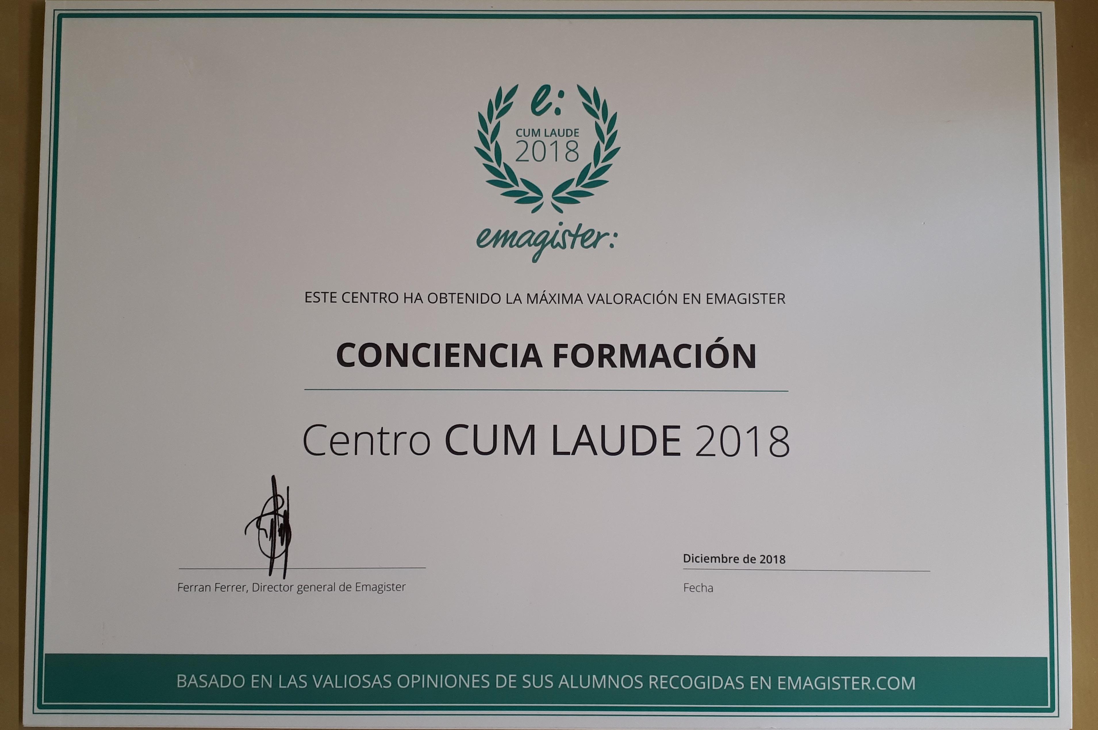 cum laude diploma